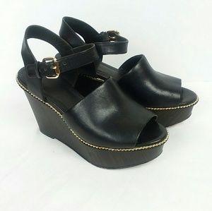 Coach Harla Wooden Platform Sandals Sz 6